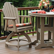 poly wood adirondack chairs dining room with wheels and arms buy polywood furniture premium patios counter