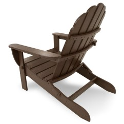 Poly Wood Adirondack Chairs Folding Lawn With Attached Side Table Polywood Classic Oversized Curveback Chair