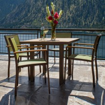 Polywood Bayline 36 In Outdoor Dining Set