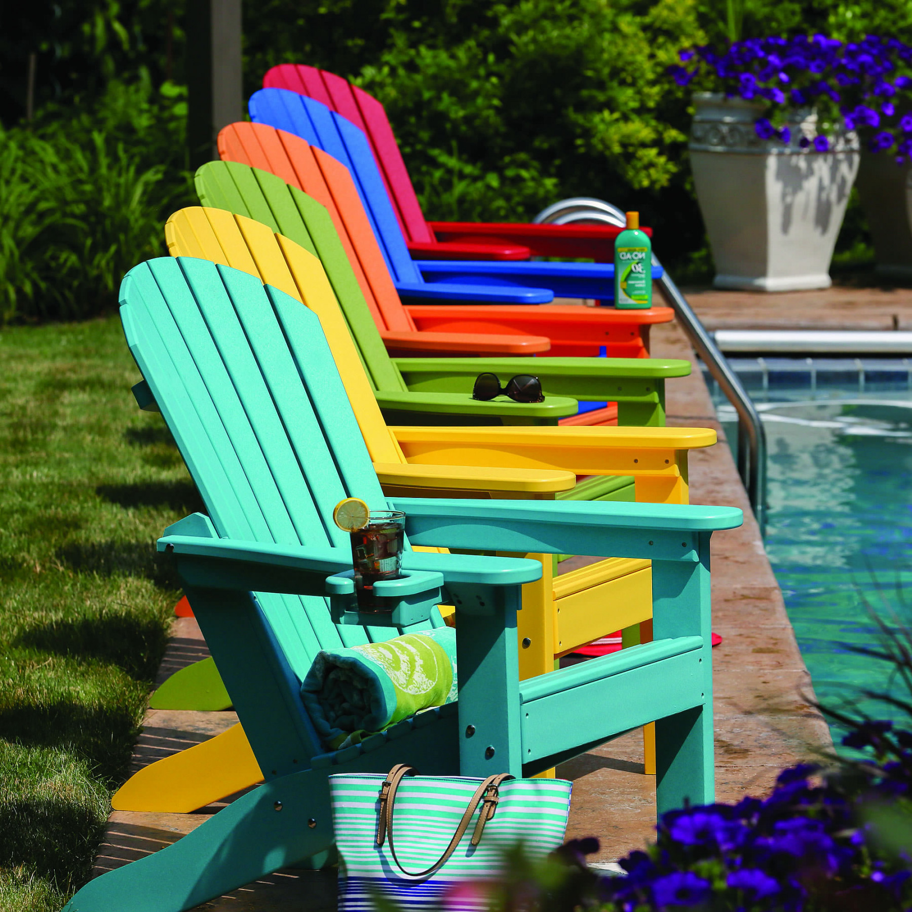 outdoor swing chair covers big and tall gaming berlin gardens tropical adirondack - chairs ...