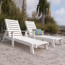 Polywood Captain Chaise Lounge Seating Set - Captains