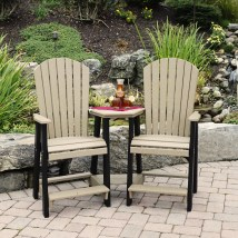 Amish Poly Balcony Settee - Leisure Lawns Collection