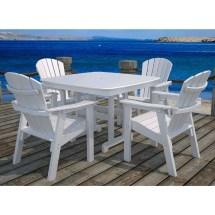 Polywood 4 Seat Seashell Dining Set - Collection