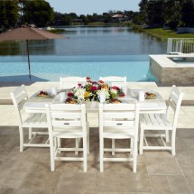 Polywood La Casa Nautical Dining Set - Cafe