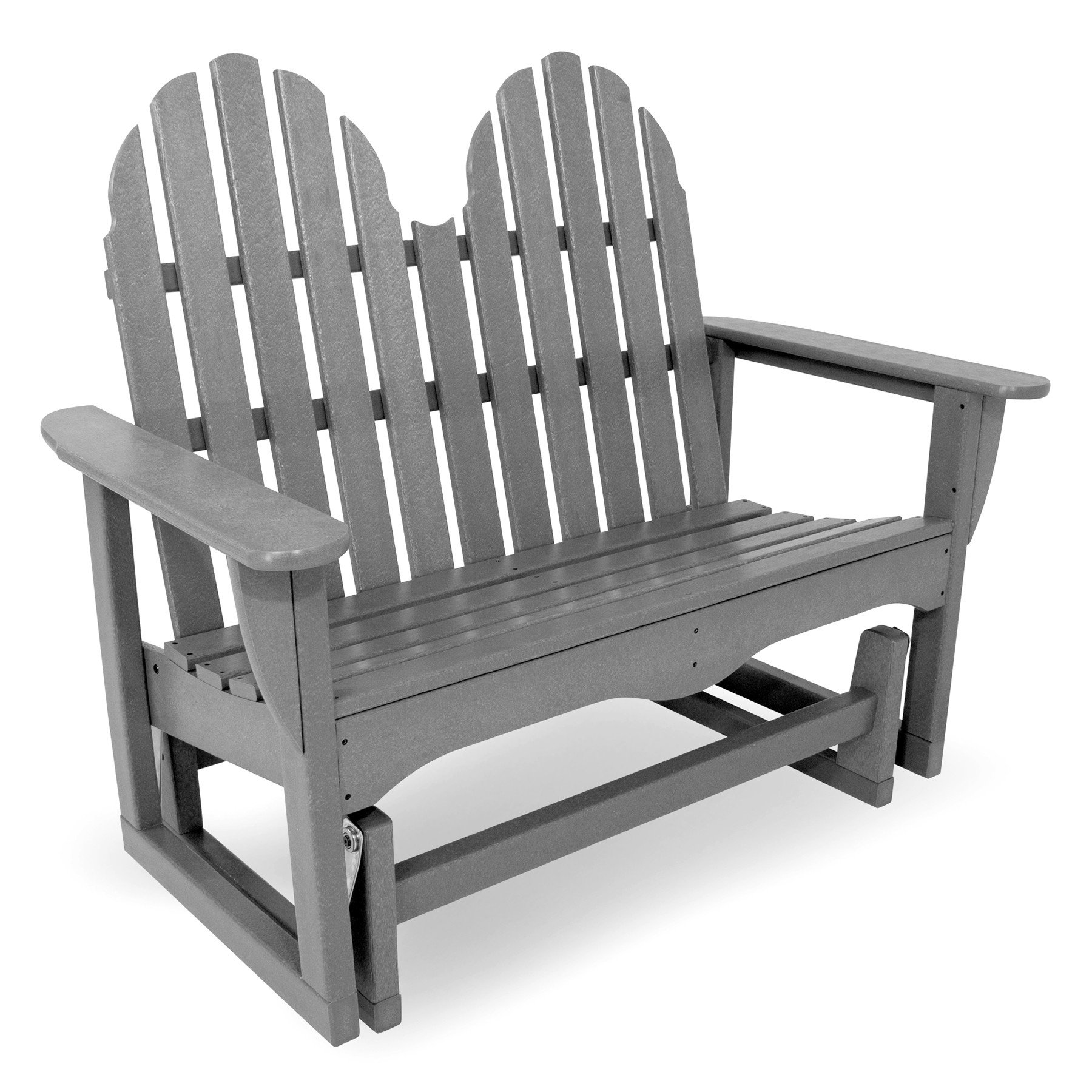 polywood classic adirondack chair wooden outdoor 48 in glider bench furniture collections