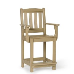 Counter Height Arm Chairs High Chair Decorations 1st Birthday Boy Amish Poly English Garden Leisure Lawns