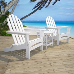 Polywood Classic Adirondack Chair Sport Team Folding Chairs Bay Seating Set Outdoor Furniture Collections