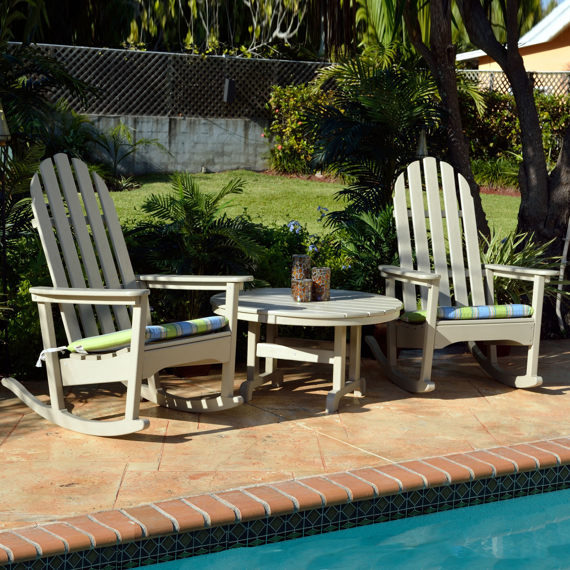 polywood big daddy adirondack chair navy blue dining classic rocking seating set