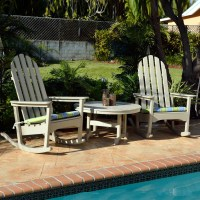 POLYWOOD Classic Adirondack Rocking Chair Seating Set ...