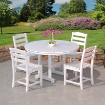 Polywood La Casa Cafe Outdoor Dining Set - Commercial