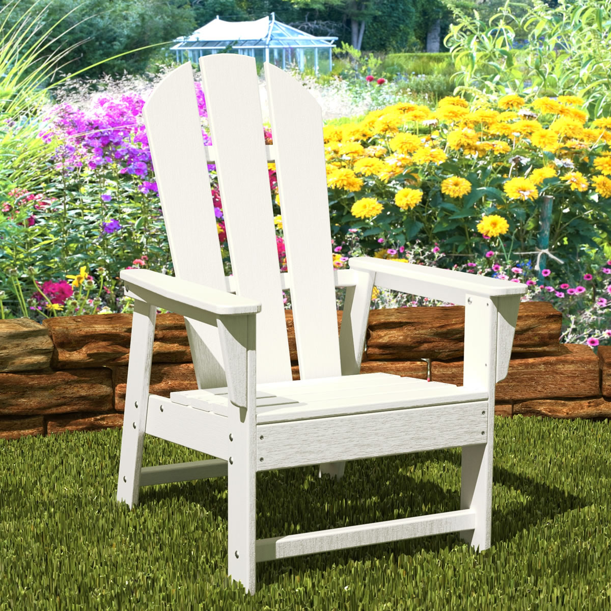 polywood classic adirondack chair cane seat original as seen on qvc outdoor furniture collections
