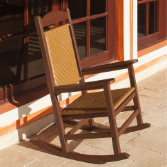 Woven Rocking Chair Spool Ethan Allen Polywood Presidential Rocker With Seat And Back