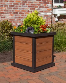 Trex Outdoor Furniture Cube 24 In Planter 4-board