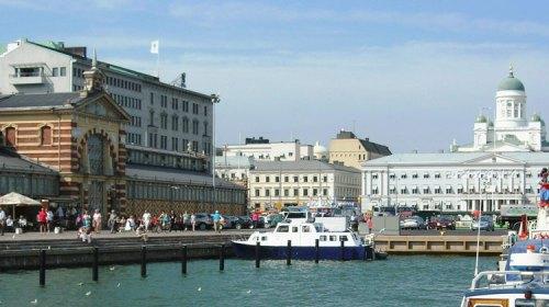 Blick auf Helsininki Hafen