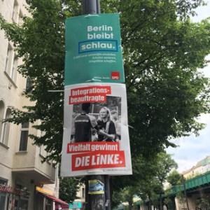 Wahlplakate zum Wahlkampf in Berlin 2016