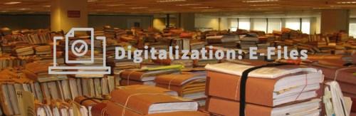 The digitalization of paper records: e-files