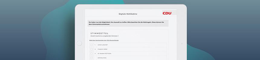 Digitaler CDU-Parteitag mit POLYAS
