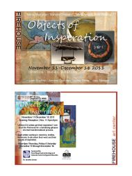 Objects of Inspiration gallery show ad graphics