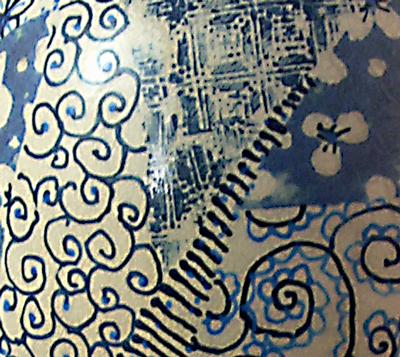 detail blue underglazes