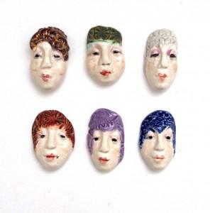 ceramic face beads