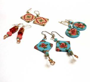 learn how to make earrings with polymer clay and beads