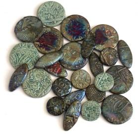 raku fired ceramic buttons