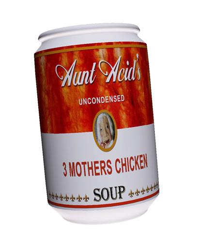 Aunt Acid's uncondensed chicken soup label