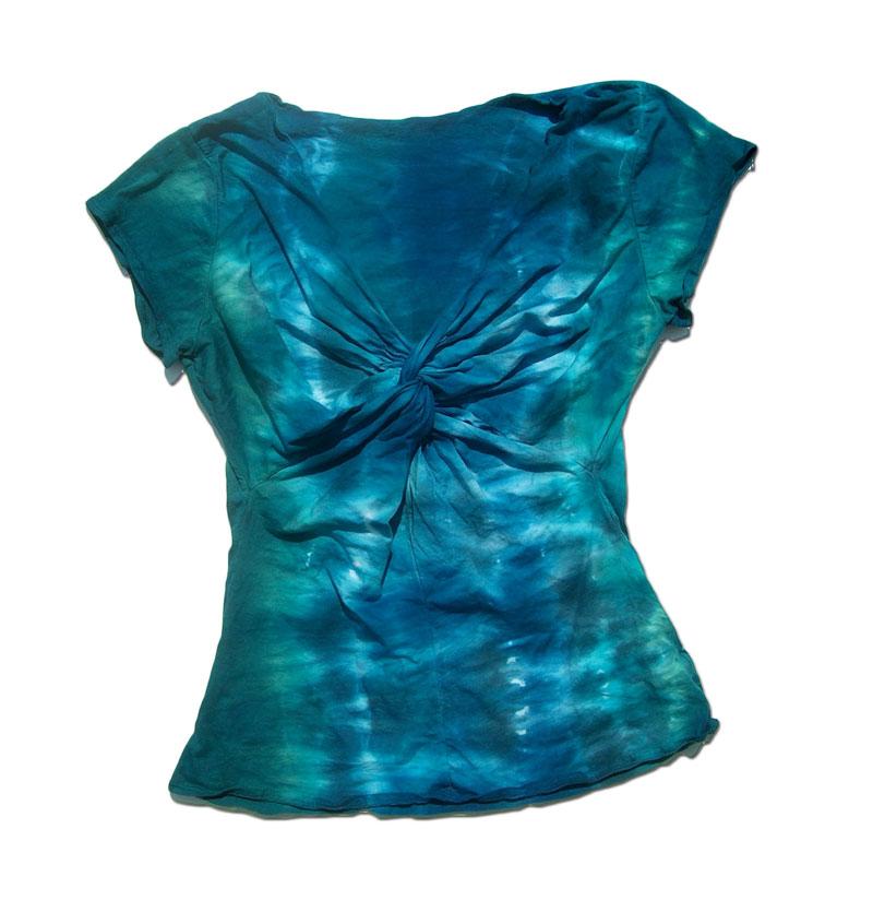 shibori dyed shirt aka tie dye
