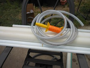 pvc pipe and plastic tube for shibori with nylon string