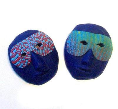 Bob Wiley miniature polymer clay mask