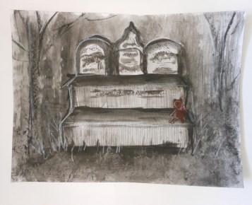 cemetary bench sketch