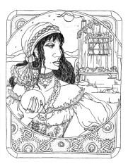 gypsy drawing coloring book
