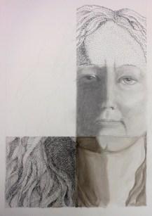 self portrait in progress