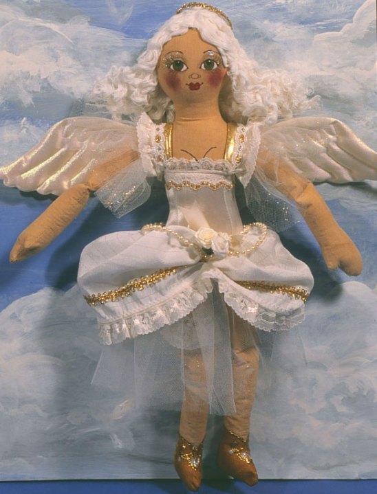 painted angel cloth doll chorus gir