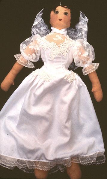 cloth doll bride