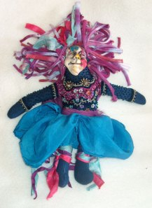 beaded spirit doll with polymer clay face