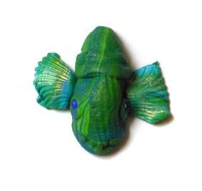 Susan Mara miniature polymer clay mask
