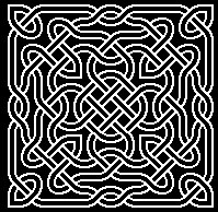 celtic knot made with dingbat font
