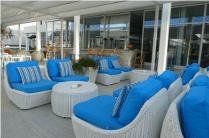 blue and white luxury sofas