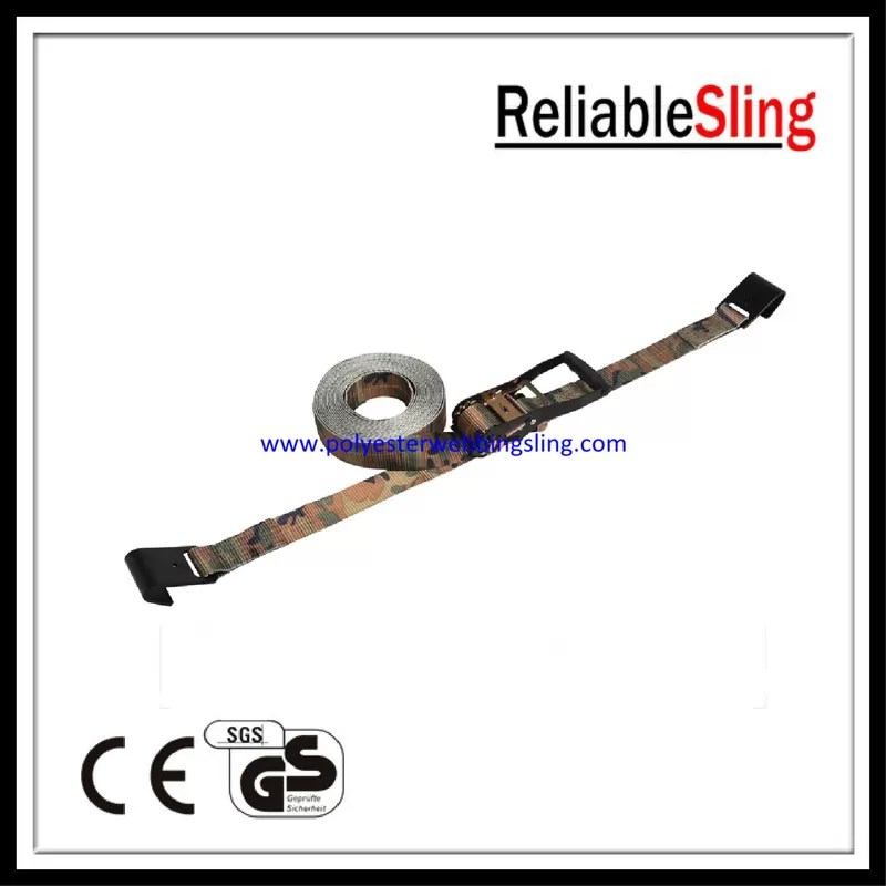 100% Polyester Wire / Flat Hook car trailer tie down