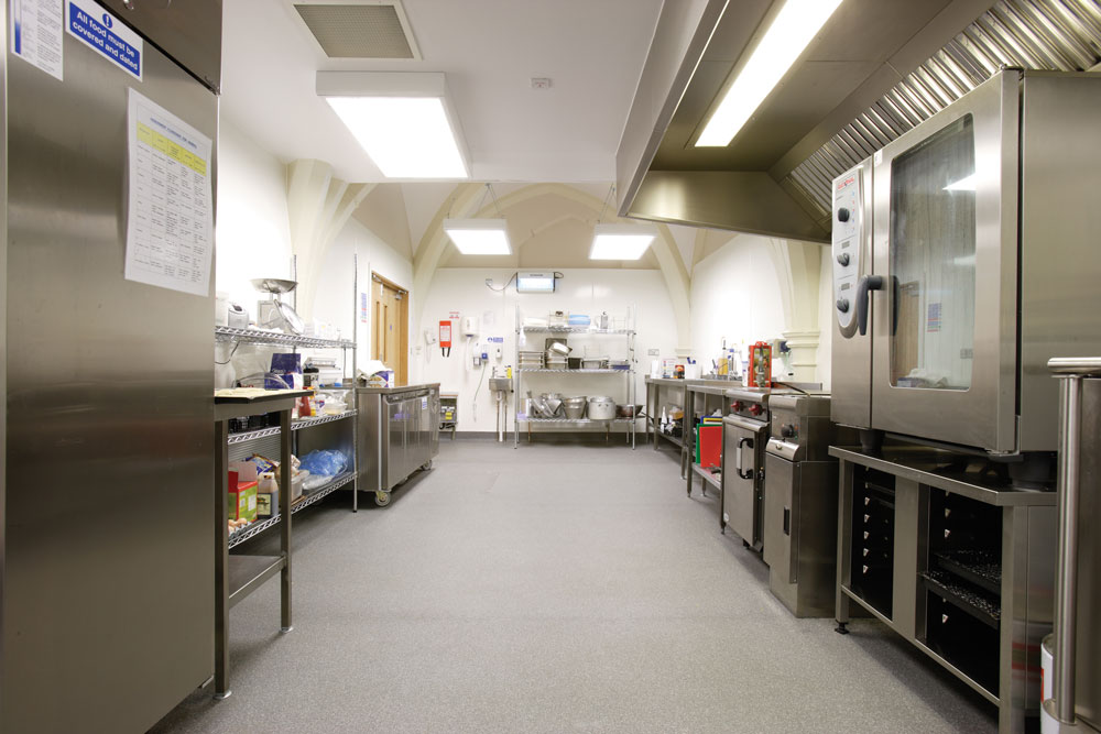 commercial kitchen flooring best wood stain for cabinets kitchens polyflor canada inc learn more about polysafe apex or contact to discuss your specific needs