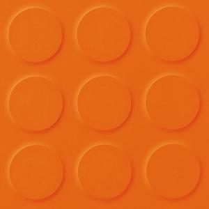 Orange orange coloured synthetic rubber tile flooring