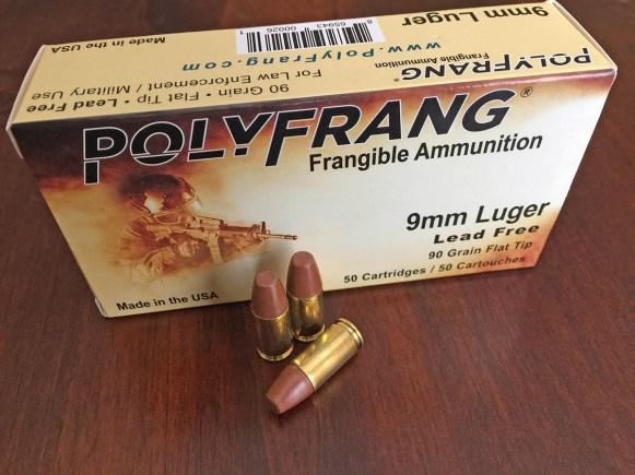 9 mm PolyFrang Frangible Ammunition
