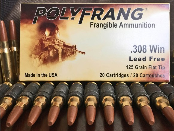 .308 7.62 mm Polyfrang Frangible Ammunition