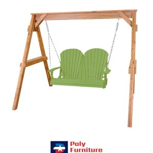 Amish Made Poly Furniture USA Adirondack 4ft Swing Lime Green