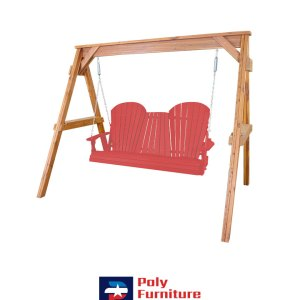 Amish Made Poly Furniture USA Adirondack 5ft Ruby Red