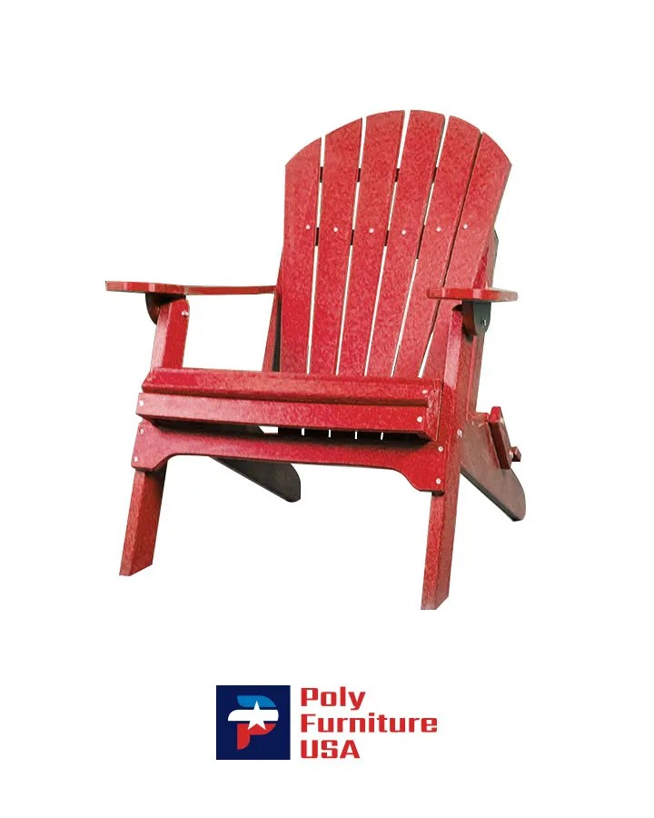 Amish Made Poly Furniture USA Adirondack Chair Ruby Red