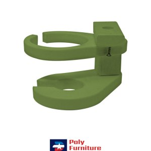 Amish Made Poly Furniture USA Universal Cupholder Lime Green