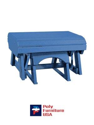 Amish Made Poly Furniture USA Gliding Ottoman Burns Blue