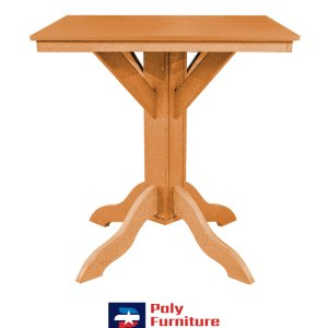 Amish Made Poly Furniture USA Bar Height Table Tangerine